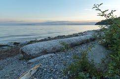 Fondo del cielo del paisaje de Ocean Pacific de la playa Imagenes de archivo