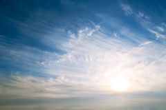 Fondo del cielo su alba fotografie stock