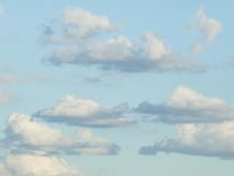 Fondo del cielo y de las nubes Imagenes de archivo