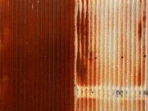 Fondo del cinc de la textura Foto de archivo libre de regalías
