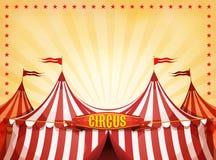 Fondo del circo del top grande con la bandera stock de ilustración