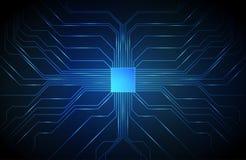 Fondo del circuito, CPU di tecnologia illustrazione di stock