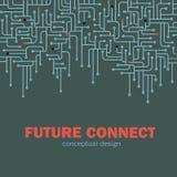 Fondo del circuito electrónico Spu Líneas diseño del circuito Concepto futuro ilustración del vector