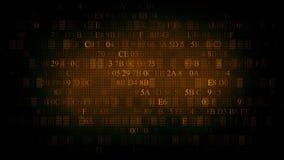 Fondo del codice esadecimale Priorità bassa di colore marrone video d archivio