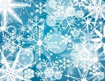 Fondo del collage del copo de nieve stock de ilustración