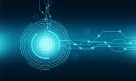 Fondo del collegamento a Internet di tecnologia del mondo illustrazione di stock