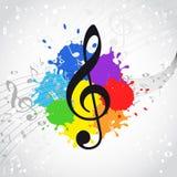 Fondo del color de la música Fotos de archivo