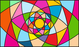 Fondo del color del caleidoscopio Fotografía de archivo