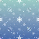 Fondo del color del cielo azul de la capa del tinte del modelo del copo de nieve Imagen de archivo libre de regalías