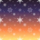 Fondo del color del cielo de la puesta del sol de la capa del tinte del modelo del copo de nieve Imagen de archivo