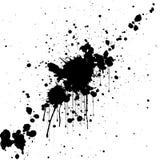 Fondo del color del negro de la salpicadura del vector Diseño de la ilustración Fotos de archivo
