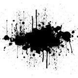 Fondo del color del negro de la salpicadura del vector Diseño de la ilustración Imagenes de archivo