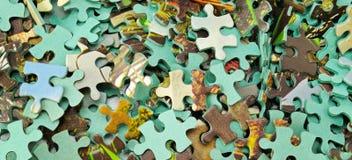 Fondo del color del rompecabezas Foto ancha Fotos de archivo libres de regalías