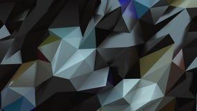 Fondo del color Textura abstracta del triángulo almacen de metraje de vídeo