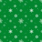 Fondo del color verde de la capa del tinte del modelo del copo de nieve Fotos de archivo