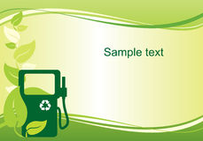 Fondo del combustible biológico stock de ilustración