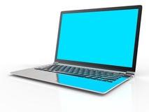 fondo del computer portatile 3D Fotografia Stock