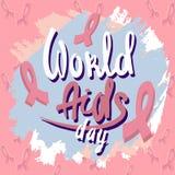 Fondo del concepto del Día Mundial del Sida, estilo exhausto de la mano libre illustration