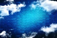 Fondo del concepto de Cloud Computing, ejemplo de Digitaces de Cloud Computing ilustración del vector