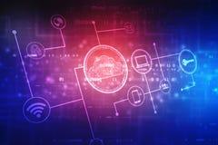 Fondo del concepto de Internet de la tecnolog?a de ordenadores de la nube ilustración del vector
