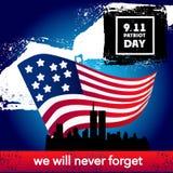 Fondo del concepto de la bandera americana del día del patriota, estilo de la historieta stock de ilustración