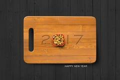 Fondo 03 del concepto de la Feliz Año Nuevo 2017 Foto de archivo libre de regalías