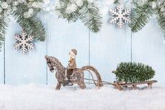 Fondo del concepto de la Feliz Navidad y del Año Nuevo Fotos de archivo