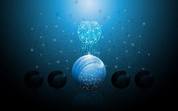 Fondo del concepto de la innovación de la tecnología de la ciencia de la idea