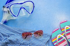 Fondo del concepto de la natación Fotografía de archivo libre de regalías
