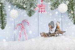 Fondo del concepto de la Navidad y del Año Nuevo Imágenes de archivo libres de regalías