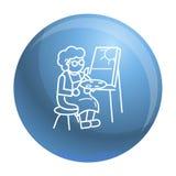 Fondo del concepto de la pintura de la persona mayor, estilo del esquema libre illustration