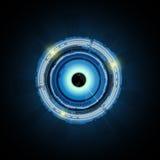 Fondo del concepto de la tecnología del ojo del extracto del vector Fotos de archivo libres de regalías