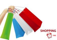 Fondo del concepto de las compras Fotos de archivo libres de regalías
