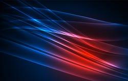 Fondo del concepto de las luces polares del vector Fotos de archivo