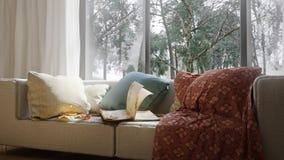 Fondo del concepto de las vacaciones con los elementos interiores Fotografía de archivo libre de regalías