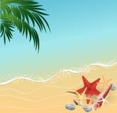 Fondo del concepto de las vacaciones de la playa del verano Foto de archivo libre de regalías