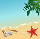 Fondo del concepto de las vacaciones de la playa del verano Fotografía de archivo libre de regalías