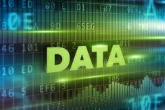 Fondo del concepto de los datos Fotografía de archivo