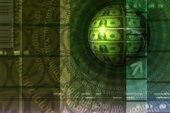Fondo del concepto del comercio electrónico - verde stock de ilustración