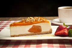 Fondo del concepto del pastel de queso de la calabaza Foto de archivo libre de regalías