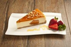 Fondo del concepto del pastel de queso de la calabaza Imagen de archivo