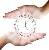 Fondo del concepto del reloj del negocio Imagen de archivo libre de regalías