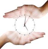 Fondo del concepto del reloj del negocio Foto de archivo