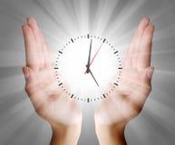 Fondo del concepto del reloj del negocio Foto de archivo libre de regalías