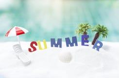 Fondo del concepto del verano Foto de archivo libre de regalías