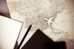 Fondo del concepto del viaje Imágenes de archivo libres de regalías