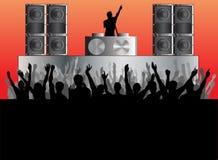 Fondo del concierto de DJ Fotografía de archivo