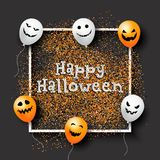Fondo del confeti de Halloween con los globos Foto de archivo libre de regalías