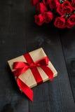 Fondo del contenitore di regalo Fotografia Stock