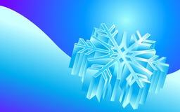 Fondo del copo de nieve imagen de archivo